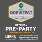 Official BrewFest Pre-Party at Lekka!